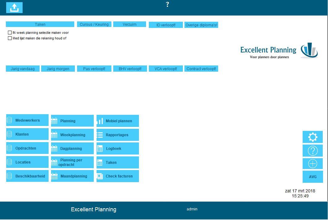 Menu Excellent Planning
